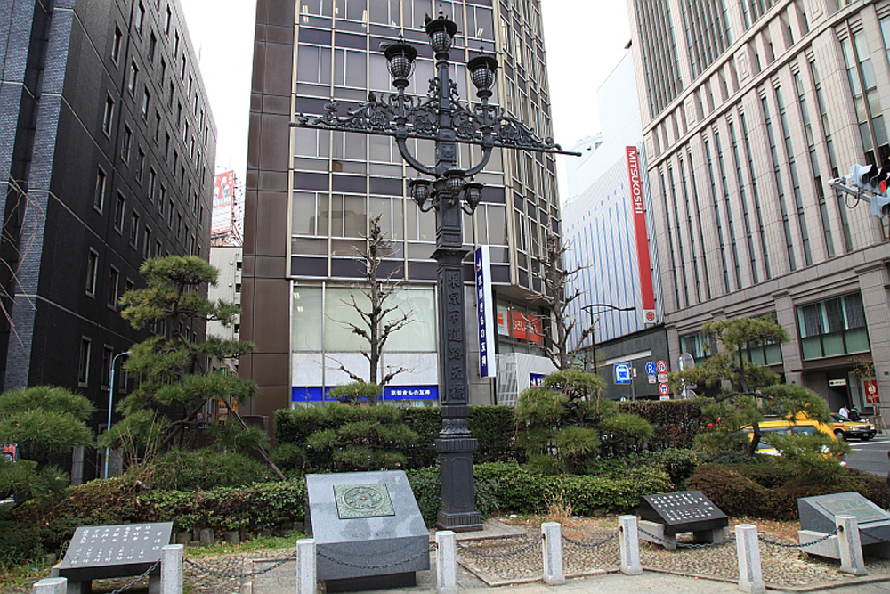 Kilometer 0 Monument Nihonbashi bridge