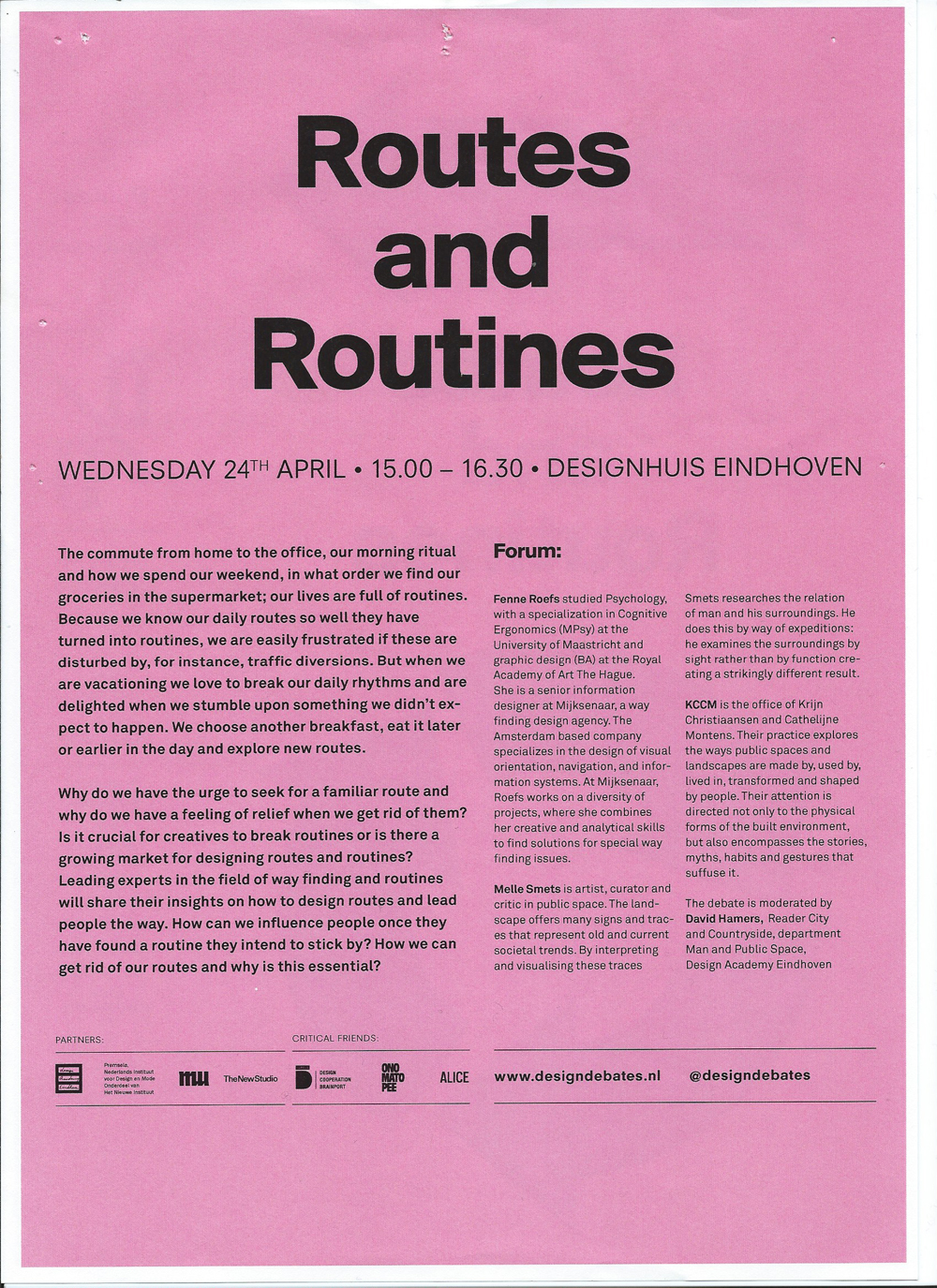 Routes and Routines1, HNI